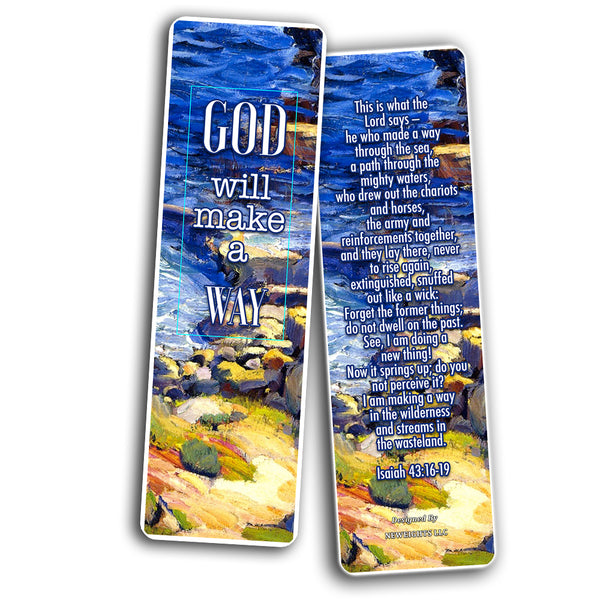 Christian Bookmarks Cards - In Christ Alone (30-Pack) - Gift Ideas for Sunday School, Youth Group, Church Camp, Bible Study - Easter Day, Thanksgiving, Christmas - Prayer Cards - War Room Decor