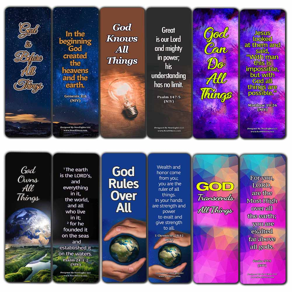 Sovereignty of God Bible Scriptures Bookmarks (30 Pack) - Handy Gospel Bible Texts About God?s Sovereignty