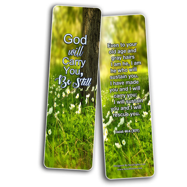 Bible Verses About Trusting God Bookmarks (60 Pack) - Perfect Giftaway for Sunday School