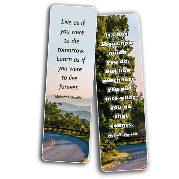 Inspirational Quotes Bookmarks Cards Series 4 (30-Pack) - Handy Quotes Perfect for Everyone