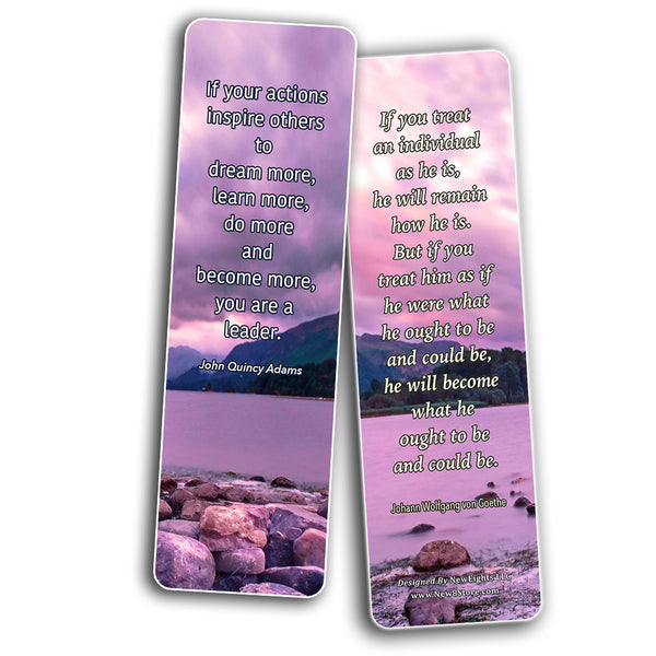 Inspirational Quotes Bookmarks Cards Series 4 (60-Pack) - Perfect Gift Away for Friends and Loved Ones