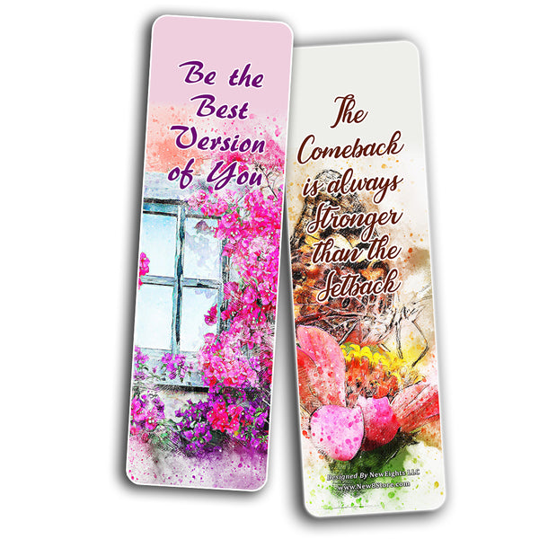 Motivational Quotes Sayings for Women (30-Pack) - Handy encouraging quotes bookmarks