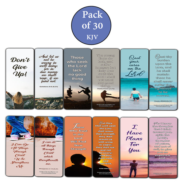 Popular Bible Verses for Teens Bookmarks KJV (30-Pack) - Handy Reminders for Teens to Memorize