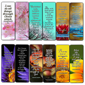 Christian Faith Scripture KJV Bookmarks (60-Pack) - Perfect Gift Away for Sunday Schools