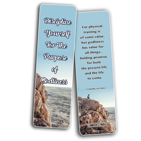 How To Live An Intentional Life Memory Verses Bookmarks (60-Pack) - Perfect Giftaway for Sunday School and Ministries