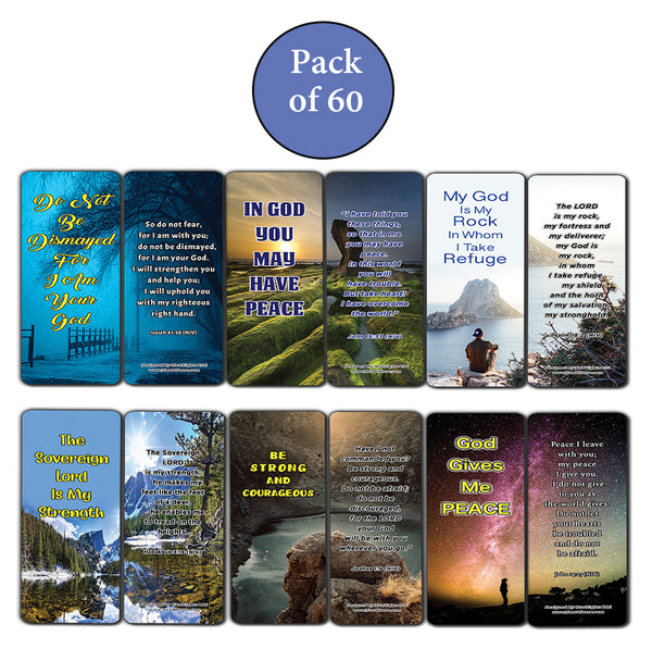 Stand Strong in Uncertain Times Bible Bookmarks (60-Pack) - Perfect Giftaway for Sunday School and Ministries
