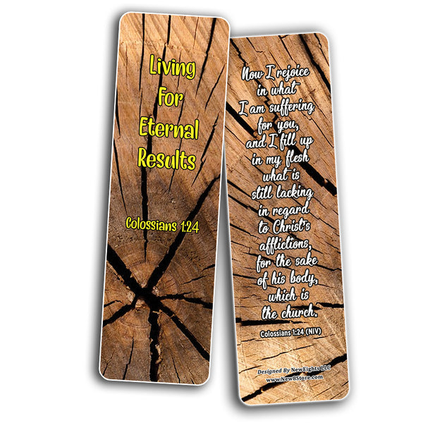 Living Out God's Mission Bible Verse Bookmarks (30-Pack) - Handy Reminder About How To Live Out God?s Mission