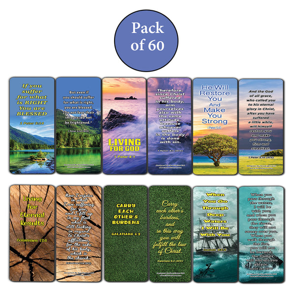 Living Out God's Mission Bible Verse Bookmarks (60-Pack) - Perfect Giftaway for Sunday School and Ministries