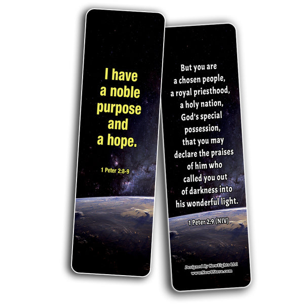 Christian Affirmations Bible Verses for Men Cards (30-Pack) - Daily Bible Reminders for Men
