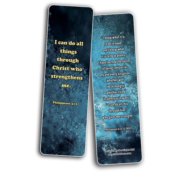 Christian Affirmations Bible Verses for Men Cards (60-Pack) - Great Giftaway for Men and Husbands