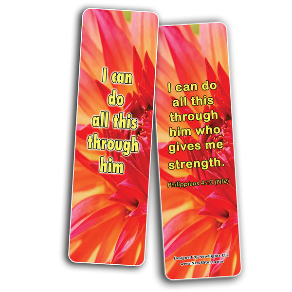 Popular Bible Verses for Teenage Girls Bookmarks (60 Pack) - Perfect Giveaways for Sunday School For Teens