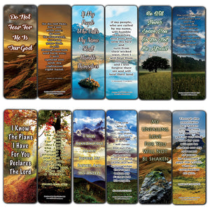 Encounter God's Promises Bible Bookmarks (60-Pack) - Perfect Giftaway for Sunday School and Ministries