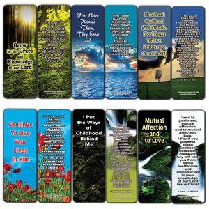 Everything You Need for Growth Bible Bookmarks (60-Pack) - Perfect Giftaway for Sunday School and Ministries