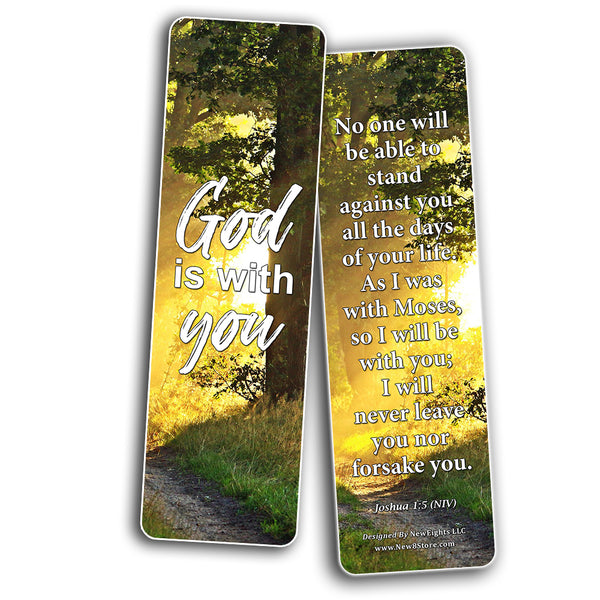Devotional Scriptures Bible Bookmarks for Men Women Teens (30-Pack) - Great Gift Give Away for Church Gospel Devotion Sharing Stocking Stuffers