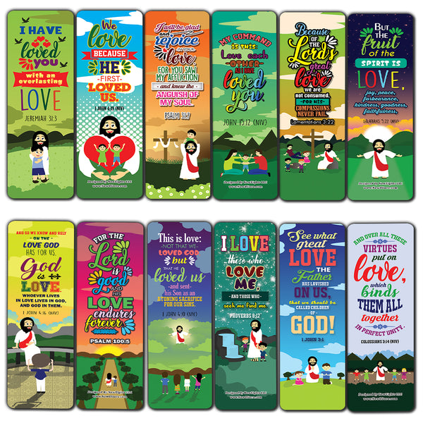 You are Loved Bible Verse Bookmarks