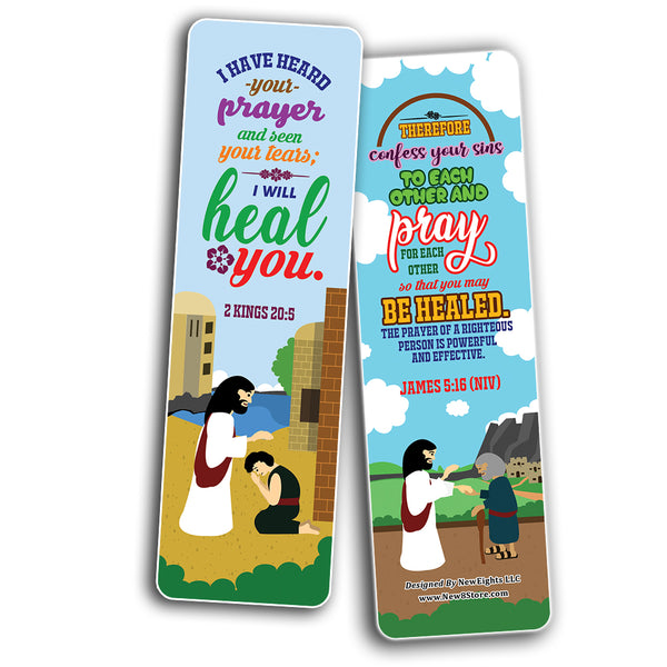 The Healing Prayers Bible Verse Bookmarks