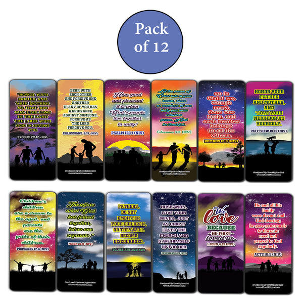 Inspirational Bible Verses for Family Bookmarks Cards