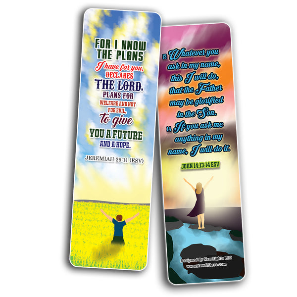 God will Provide Bible Verses Bookmarks Cards (12-Pack)