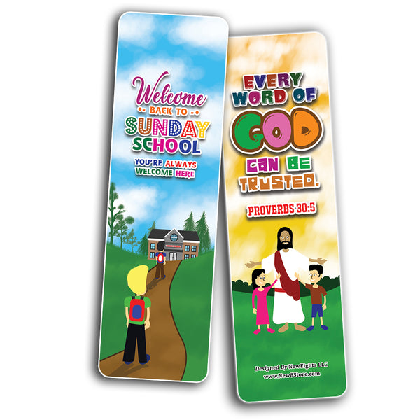 Welcome to Sunday School Bookmarks Cards Series 2