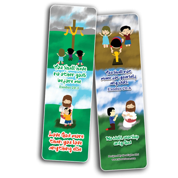 10 Commandments Bookmarks Cards (12-Pack)