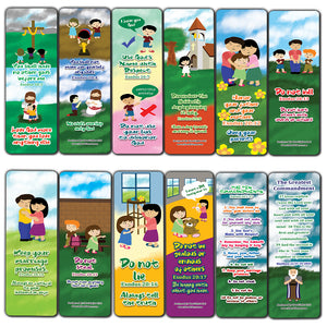 10 Commandments Bookmarks Cards