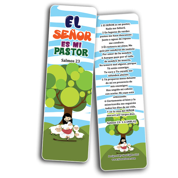 Spanish Psalm 23 The Lord is My Shepherd Bookmarks