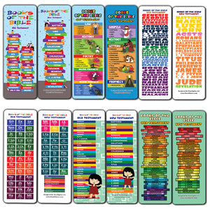 Books of The Bible Bookmarks for Kids (12-Pack)