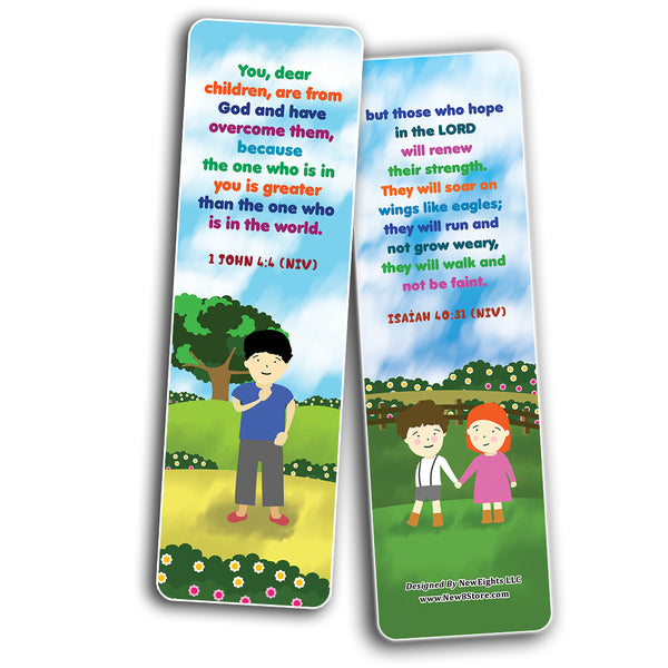 Christian Affirmations Bible Verses for Kids Cards