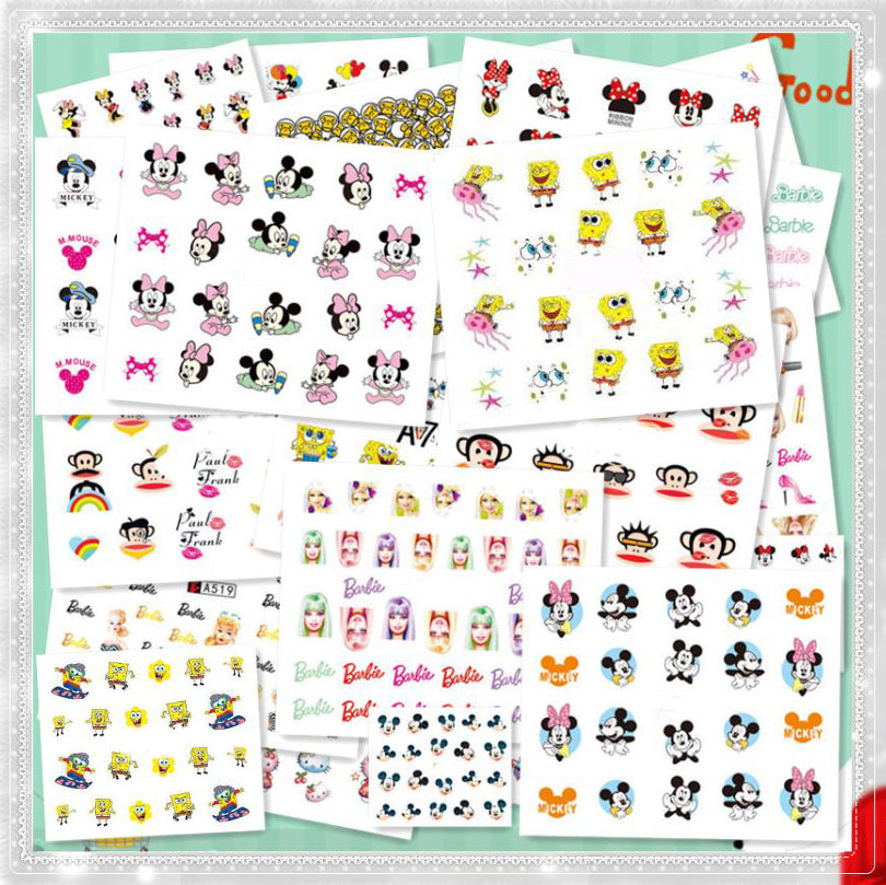 New8Beauty Nail Art Stickers Decals Series 16 (50-Pack) - Animal Cartoons