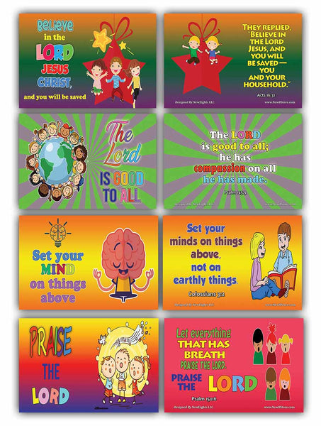 Daily Devotional Topical Bible Verses for Kids NIV Flashcards (30 cards x 2 set )
