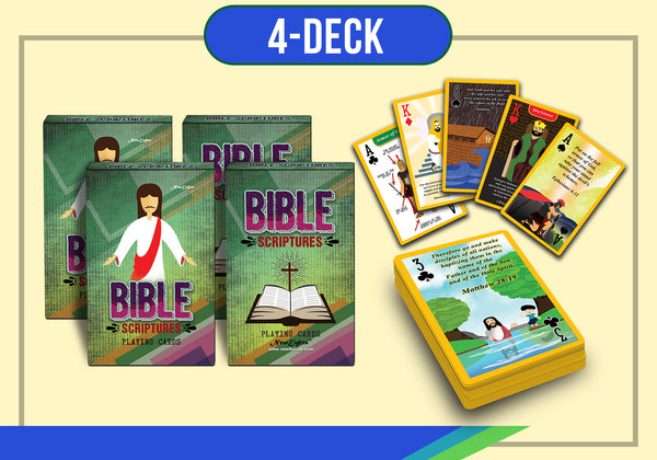 Bible Scriptures Playing Cards (4-Deck)