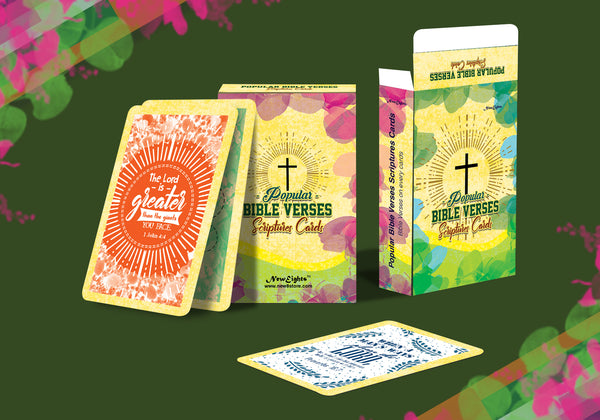 Popular Bible Verses Scriptures Cards (4-Deck)
