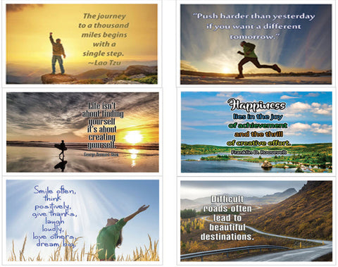 NewEights Inspirational Quotes Postcards Cards (12-Pack) Bulk Collection & Gift wih Inspirational, Motivational,Encouragement Messages