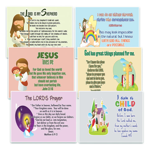 NewEights Christian Postcards Cards for Kids (60 Pack) - With encouraging bible messages - Great stocking stuffers for postcard collectors, Postcrossing, scrapbooking, gifts, invitations