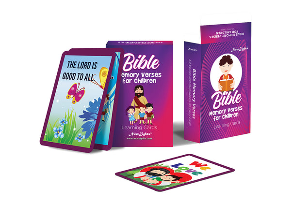 NewEights 54 Bible Memory Verses (NIV) for Children Cards (1-Deck) - Educational Tools for Children