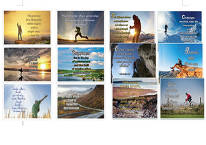 Assorted Inspirational Postcards - NEPC1001 x 5 sets & NEPC1006 X 5 sets (60-Pack) - Multiple Encouraging Postcards