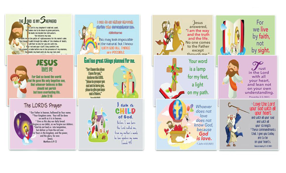 NewEights Christian Postcards for Kids