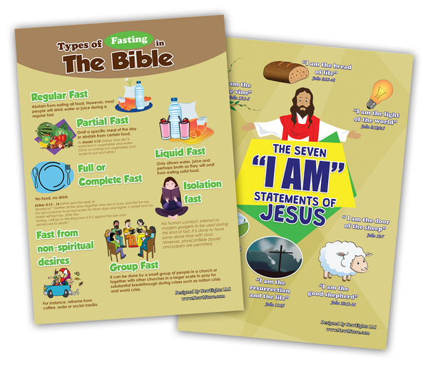 NewEights Bible Knowledge Series 1 Learning Posters (12-Pack) – Home Schooling Educational Tool