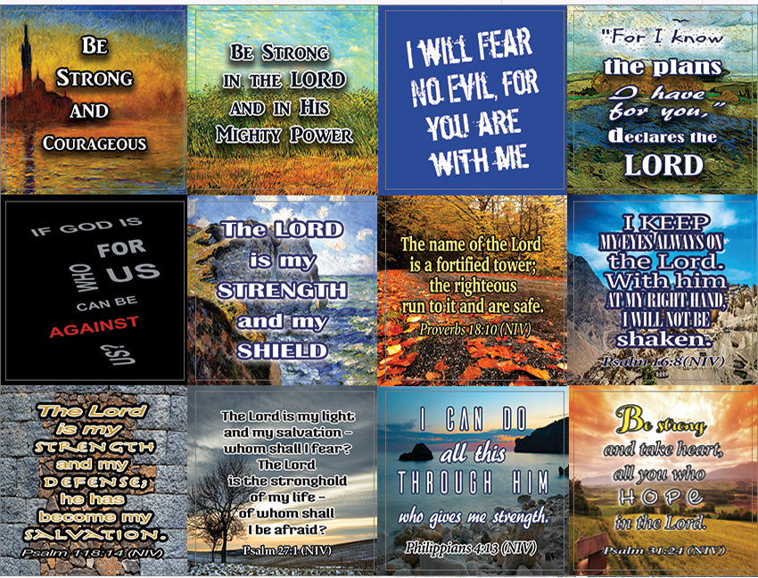 Be Strong Stickers (10-Sheet) - Great Gift Away for Ministry, Bible Study and Sunday Schools