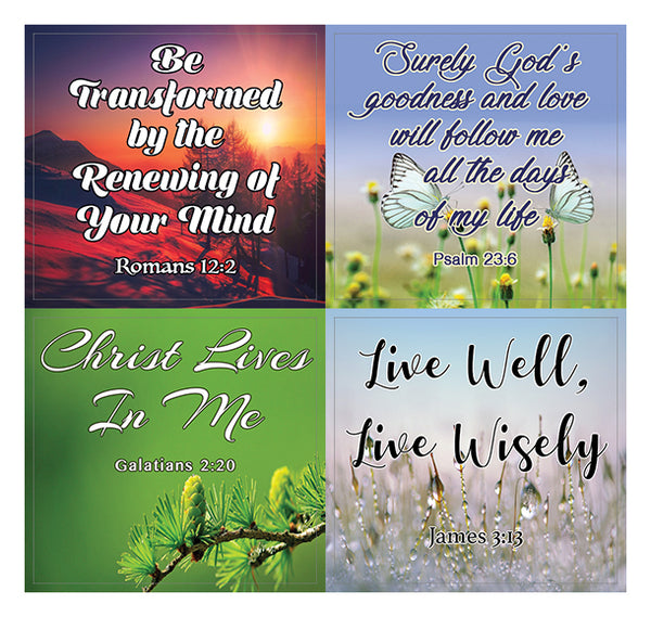 God is in Control Religious Stickers (20-Sheet) - Great Giftaway Stickers for Ministries