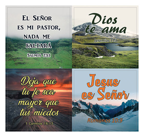 Spanish Religious Stickers (20-Sheet) - Great Giveaways for Ministries and Sunday Schools