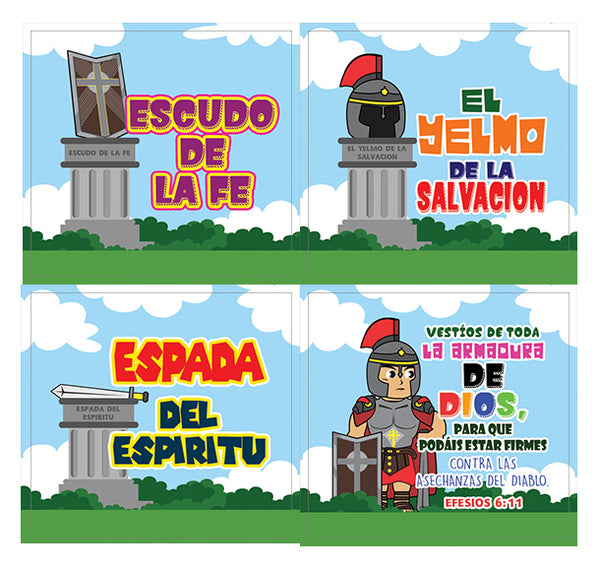 Spanish Armor of God Stickers