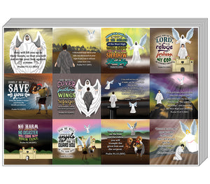 Psalm 91 Stickers (10-Sheet) - Stocking Stuffers for Boys Girls - Children Ministry Bible Study Church Supplies Teacher Classroom Incentives Gift