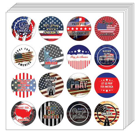 NewEights Pray for America Stickers (20-Sheet)