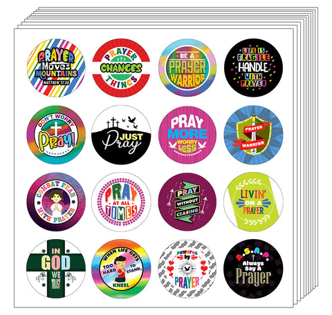 Christian Prayer Stickers for Kids (20-Sheet)