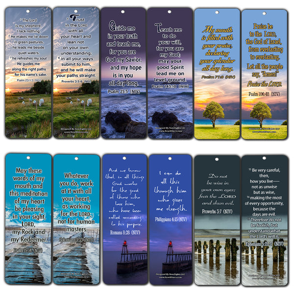 Powerful Bible Verses to Live by Bookmarks NIV (60-Pack) - Compilation of Motivational Bible Verses