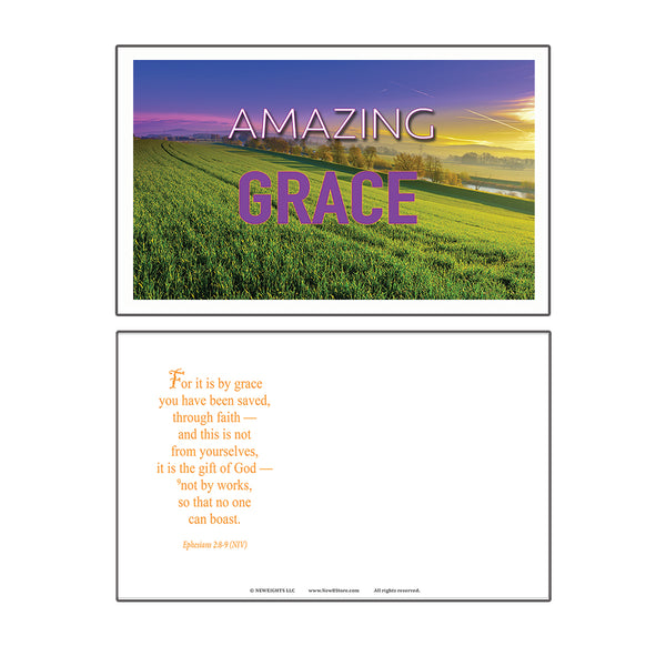 SALVATION CHRISTIAN POSTCARDS (60-Pack) - GREAT REMINDER FOR EVERYONE ABOUT THE GIFT OF SALVATION