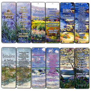 Spanish Christian Bible Verses Bookmarks - In Christ Alone (60-Pack) - Marcadores de Libros Cristianos para hombres para mujeres - Prayer Cards - Religious Christian Gift - Stocking Stuffers