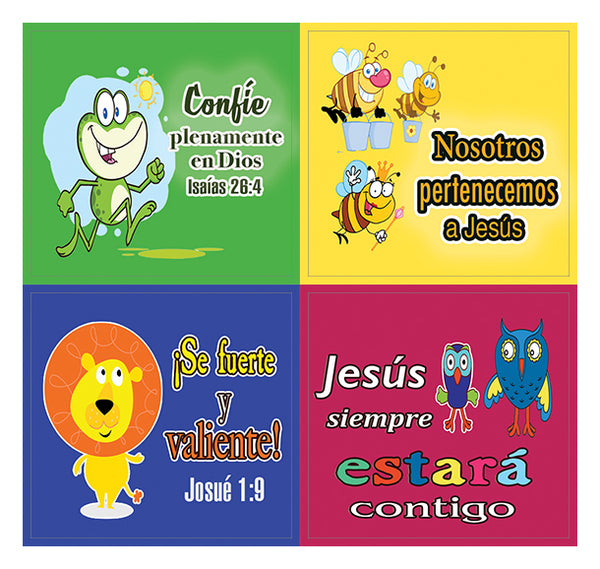 Spanish Smile God Loves You Stickers (20-Stickers) - Perfect Giveaways for Children Ministries