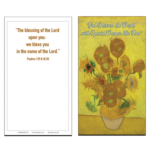 Blessed Special Women Christian Bible Psalm 129:8 Postcards (60 Pack) - Great Gifts for Mother Day Gifts, Women's fellowship Church Supplies